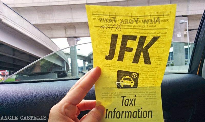 Cómo llegar a Nueva York desde el JFK: coger un taxi
