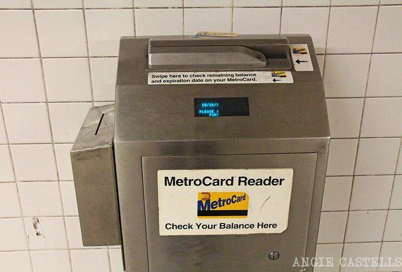 La tarjeta MetroCard de Nueva York - Balance