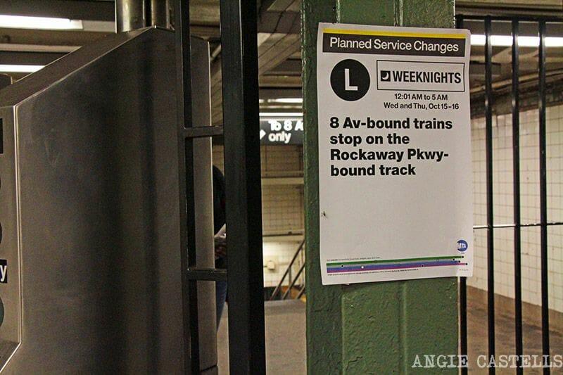 Cómo usar el metro de Nueva York: las vías y obras