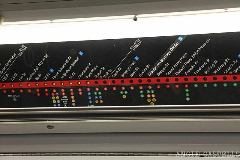 El metro de Nueva York paradas