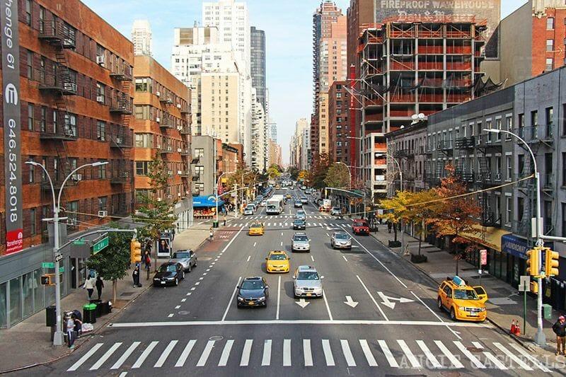 Viajar en taxi por Nueva York