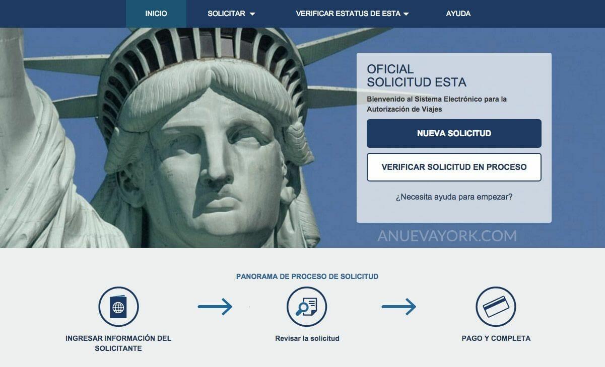 Cómo rellenar el ESTA para viajar a Estados Unidos