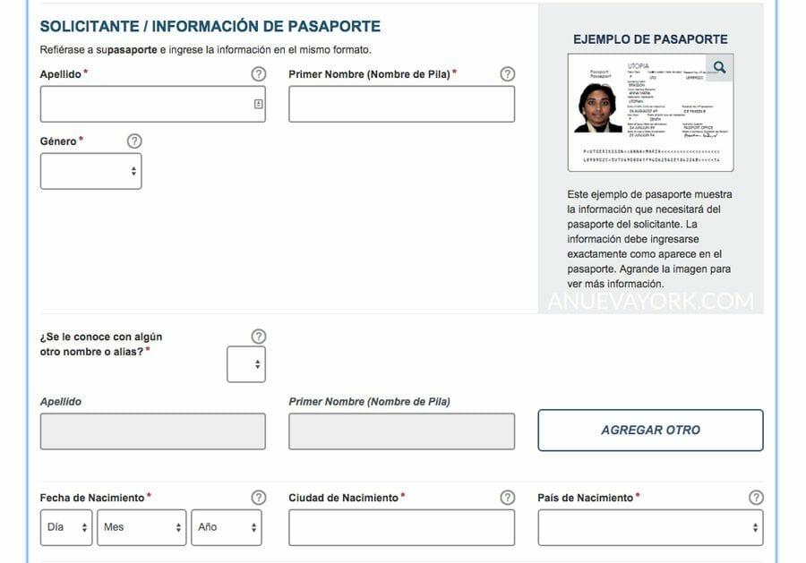 Cómo rellenar el formulario ESTA para Nueva York