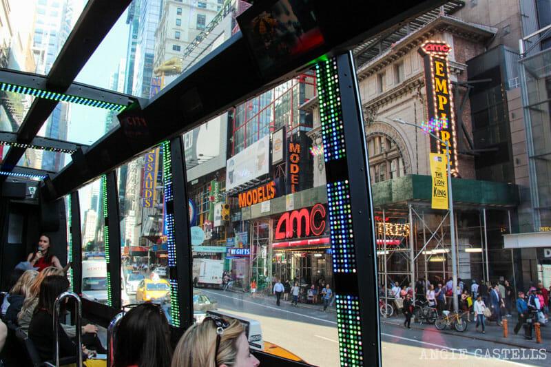 Las mejores excursiones por Nueva York - Autobús The Ride