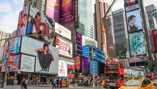 Times Square. Luces, teatro y musicales en Nueva York
