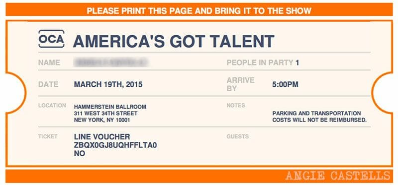 Entradas para Americas Got Talent Nueva York