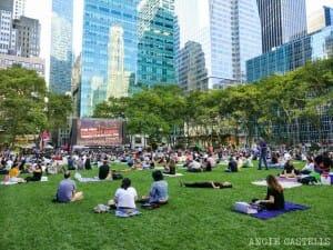 Cine al aire libre Nueva York Bryant Park Fechas