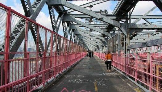 Cruzar el puente de Williamsburg a pie