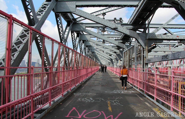Cruzar el puente de Williamsburg Nueva York