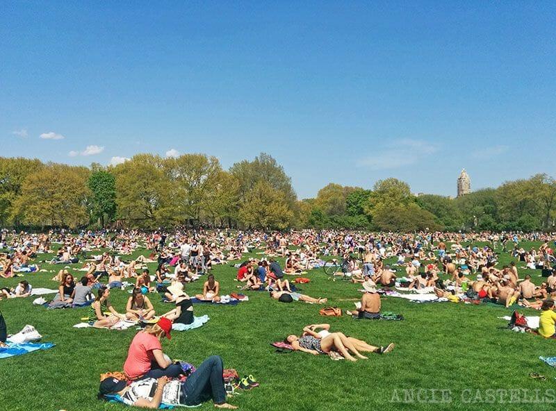 Julio en Nueva York Central Park