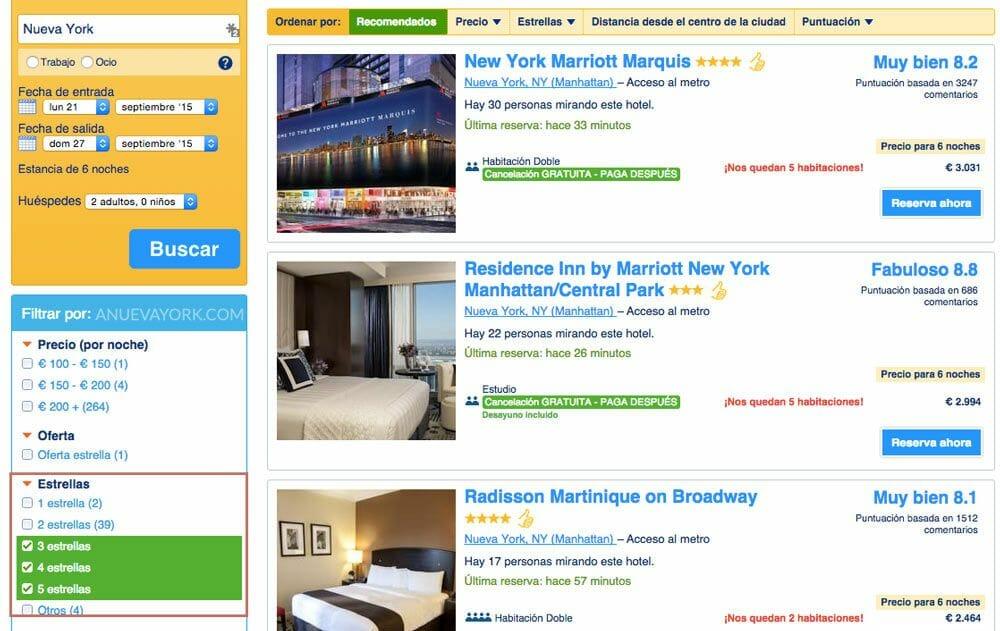 Alquilar-un-hotel-en-Nueva-York-con-Booking-estrellas