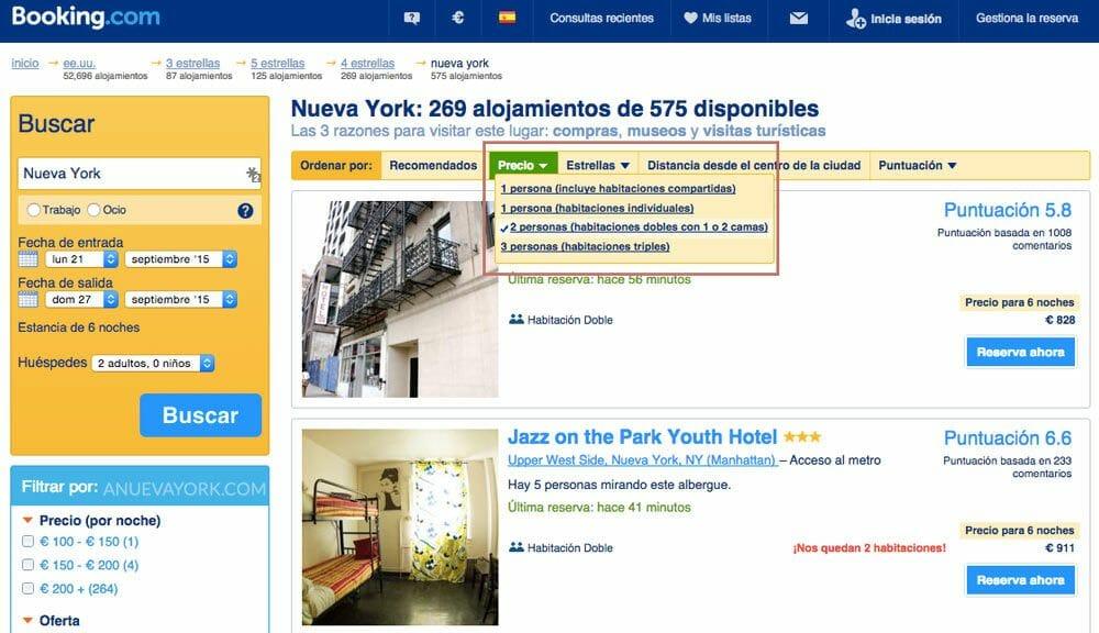 Alquilar-hotel-en-Nueva-York-con-Booking-precio