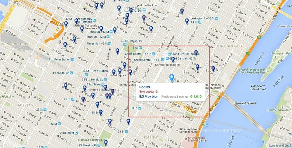 Reservar-hotel-en-Nueva-York-con-Booking-mapa