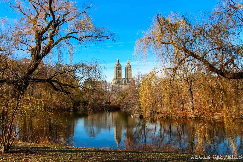 El otoño en Nueva York Central Park Lago