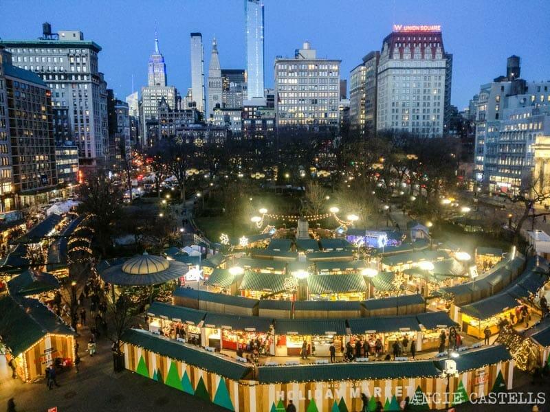Visitar Nueva York en Navidades - El mercadillo de Union Square