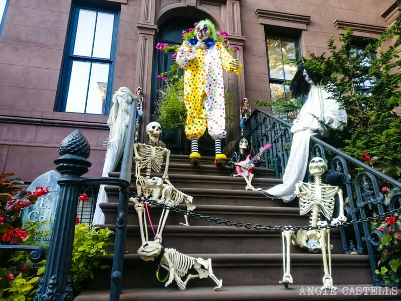 Decoraciones de Halloween en el West Village