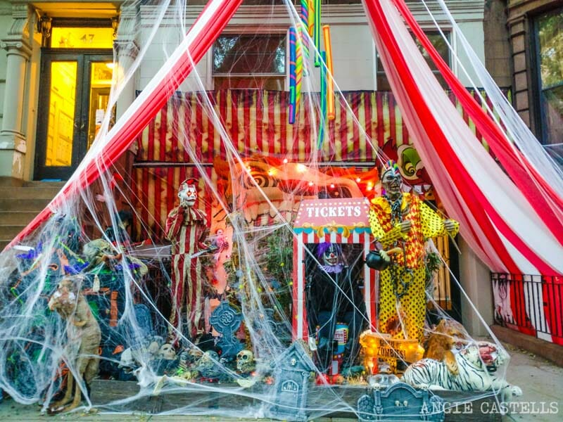 Decoraciones de Halloween en el Upper West Side de Nueva York