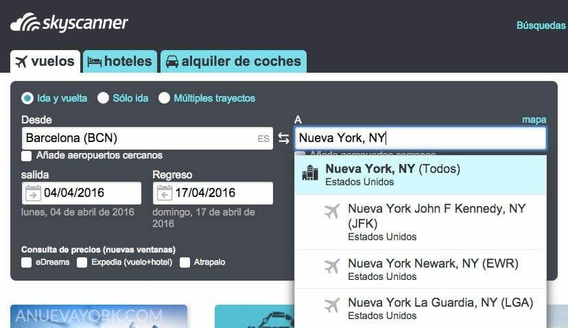 Cómo encontrar vuelos baratos a Nueva York, trucos y consejos