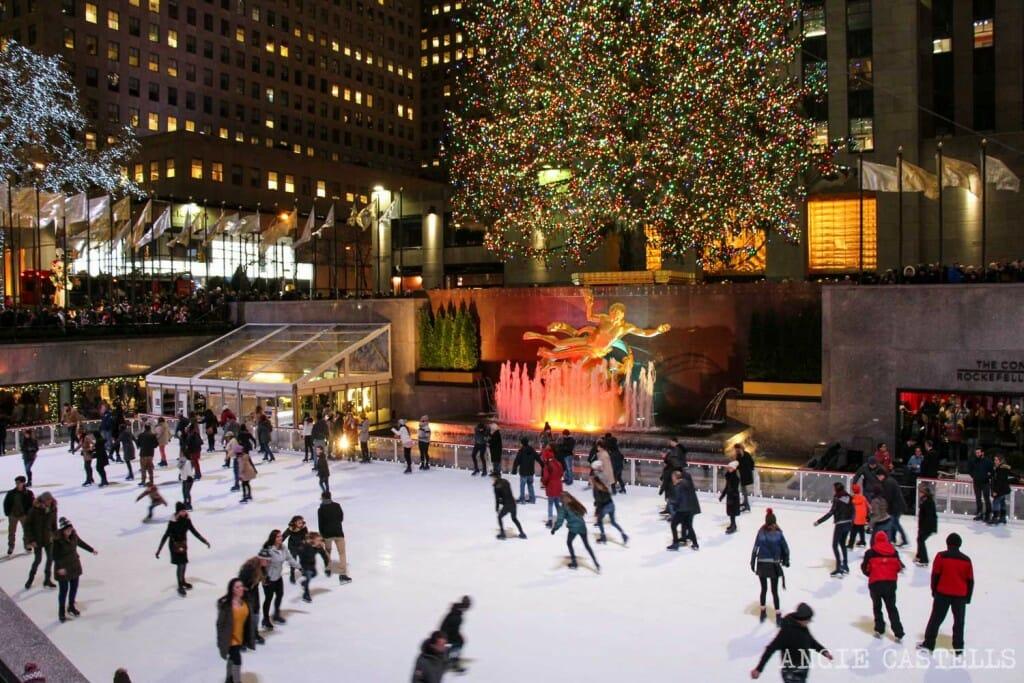 Pistas patinaje sobre hielo Nueva York Rockefeller Center