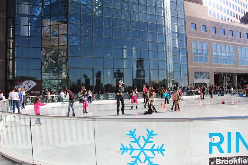 Pistas patinaje sobre hielo Nueva York Brookfield Place