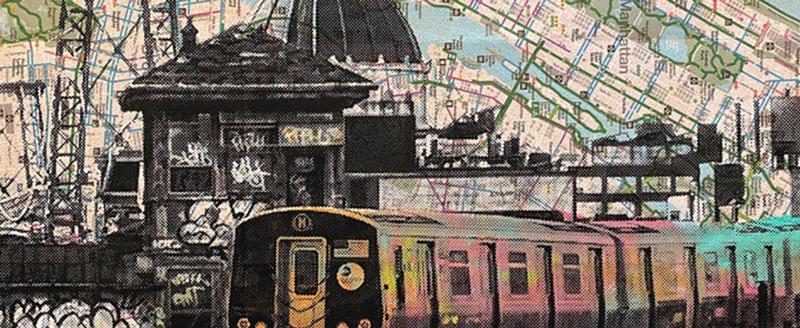 Ilustraciones de Nueva York - Mapa del metro de BodegaLatin
