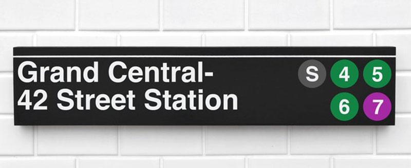 Carteles del metro de Nueva York de SidewaySigns