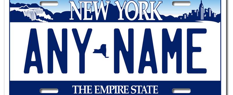 Los mejores regalos de Nueva York - Matriculas de Nueva York