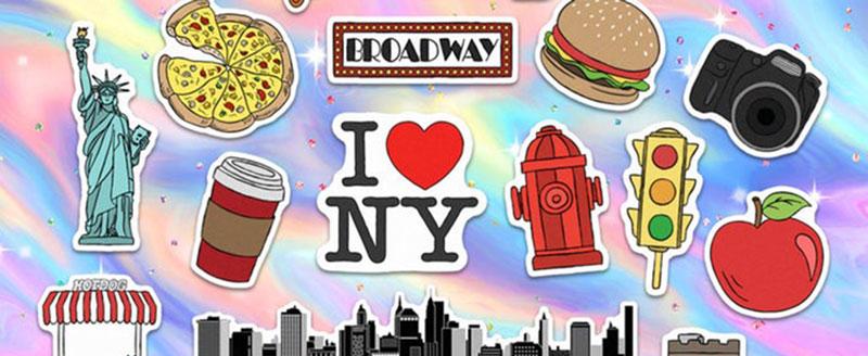 Pegatinas de Nueva York para regalos