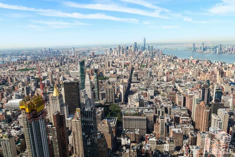 Vistas de Nueva York desde el Empire State Building