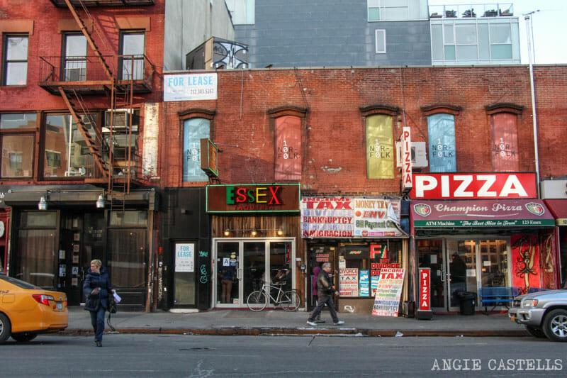 Barrios de Manhattan Mapa Lower East Side