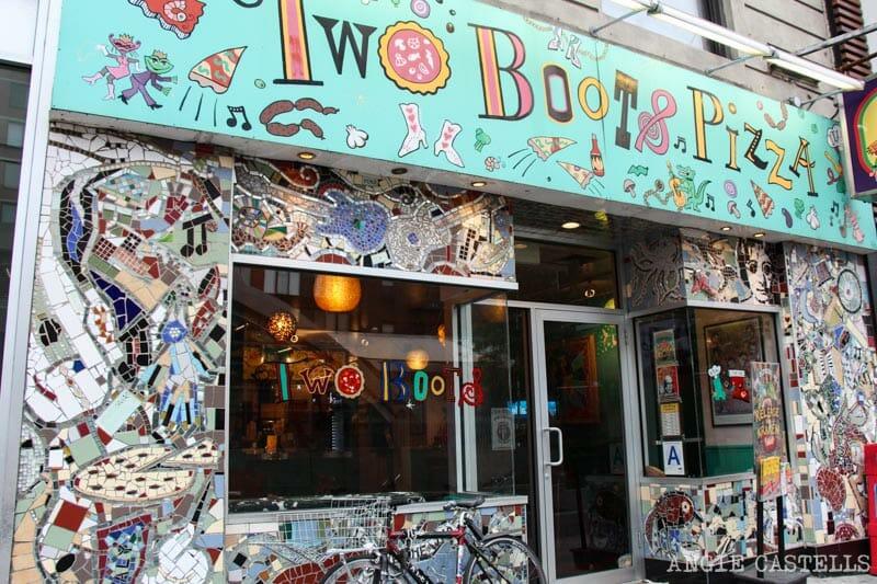Dónde comer barato en Nueva York: Two Boots Pizza