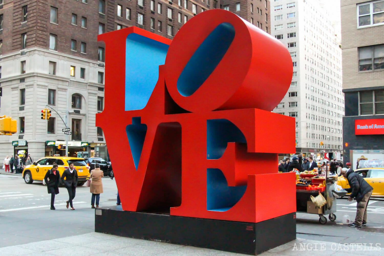 Dónde está la escultura LOVE de Nueva York