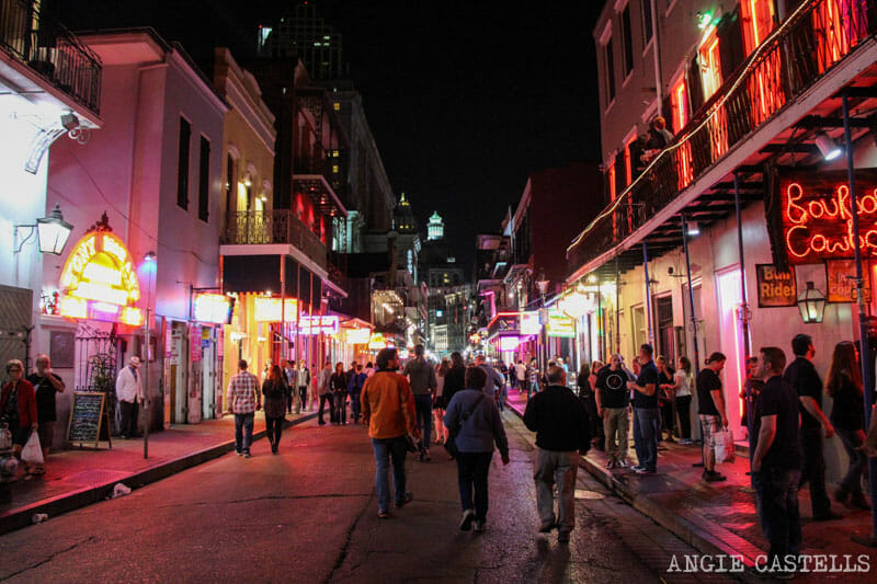 Guia de Nueva Orleans Bourbon Street