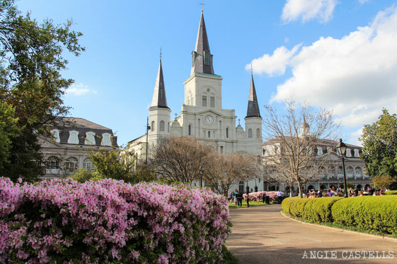 Guia de Nueva Orleans French Quarter jardines Jackson Square
