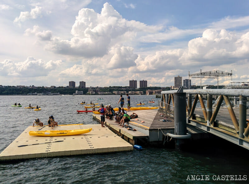 Kayak gratis en Nueva York - Río Hudson Pier 96