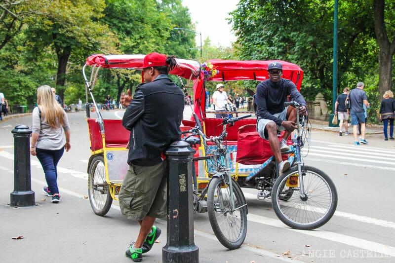 Diccionario de Nueva York: pedicab en Central Park