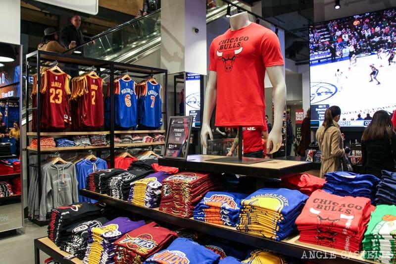 Dónde comprar ropa en Nueva York - Tienda de la NBA