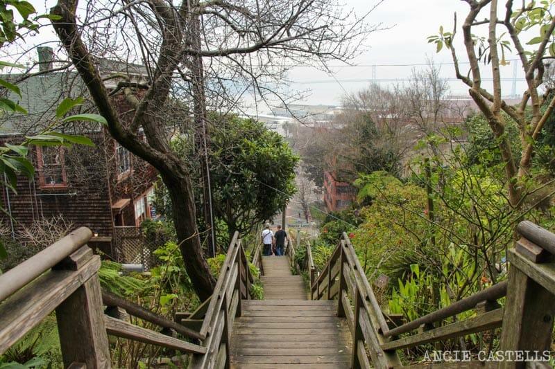 Qué ver en San Francisco: Itinerarios Filbert Steps