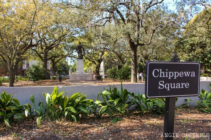 Guia de Savannah que ver y hacer Chippewa Square