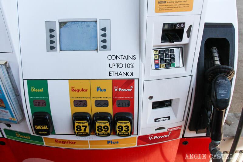 Consejos para conducir por los Estados Unidos gasolina
