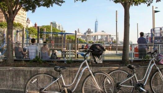 Ruta por Battery Park y el río Hudson en bicicleta