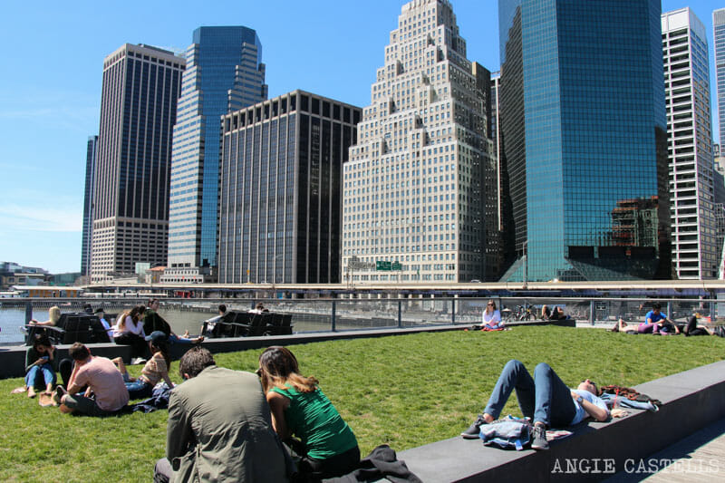 Ruta en bici por Nueva York: el Pier 15, en South St Seaport
