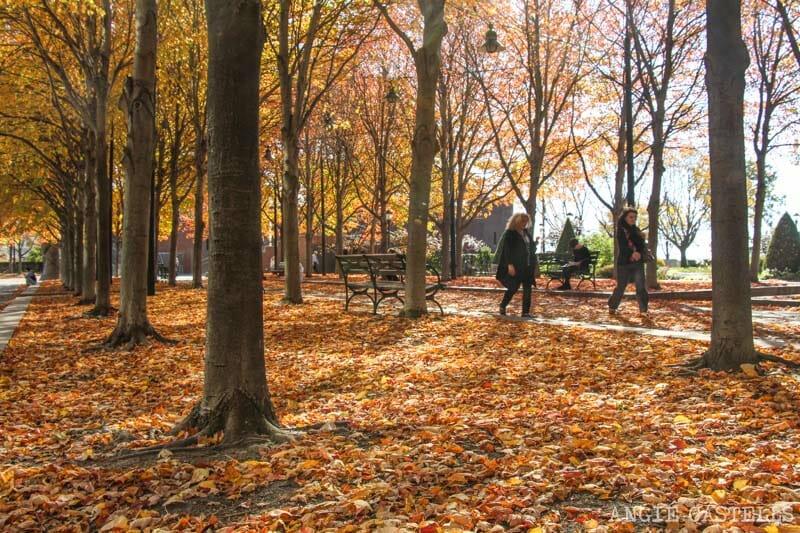 Noviembre en Nueva York Battery Park otoño