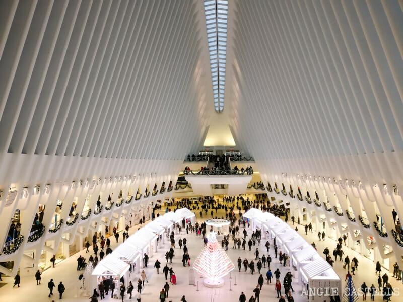 Las mejores decoraciones de Navidad de Nueva York - The Oculus