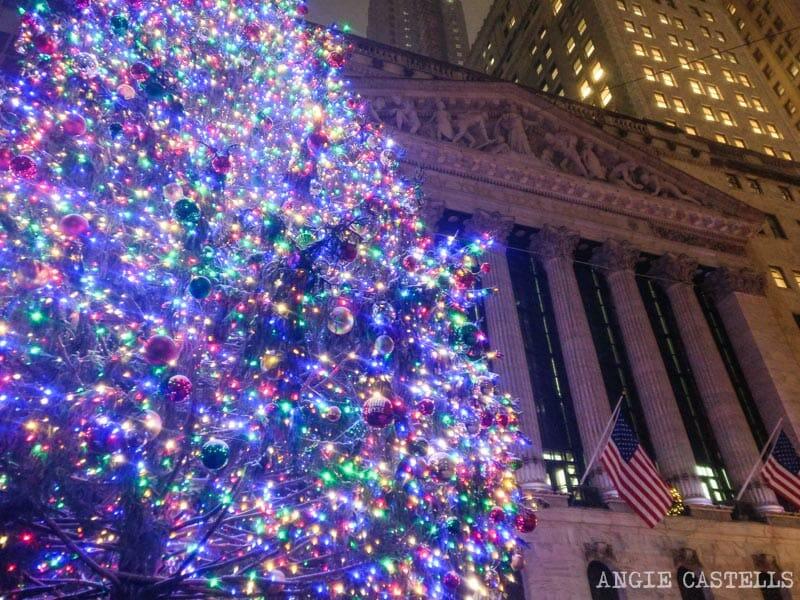 Las mejores decoraciones de Navidad de Nueva York - Wall St