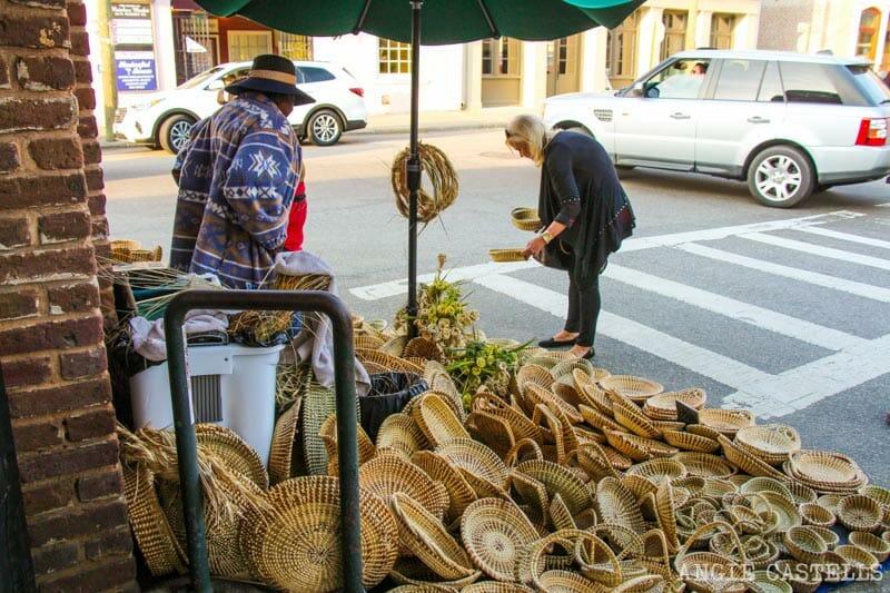 Guía de Charleston: Las cestas de sweetgrass en City Market