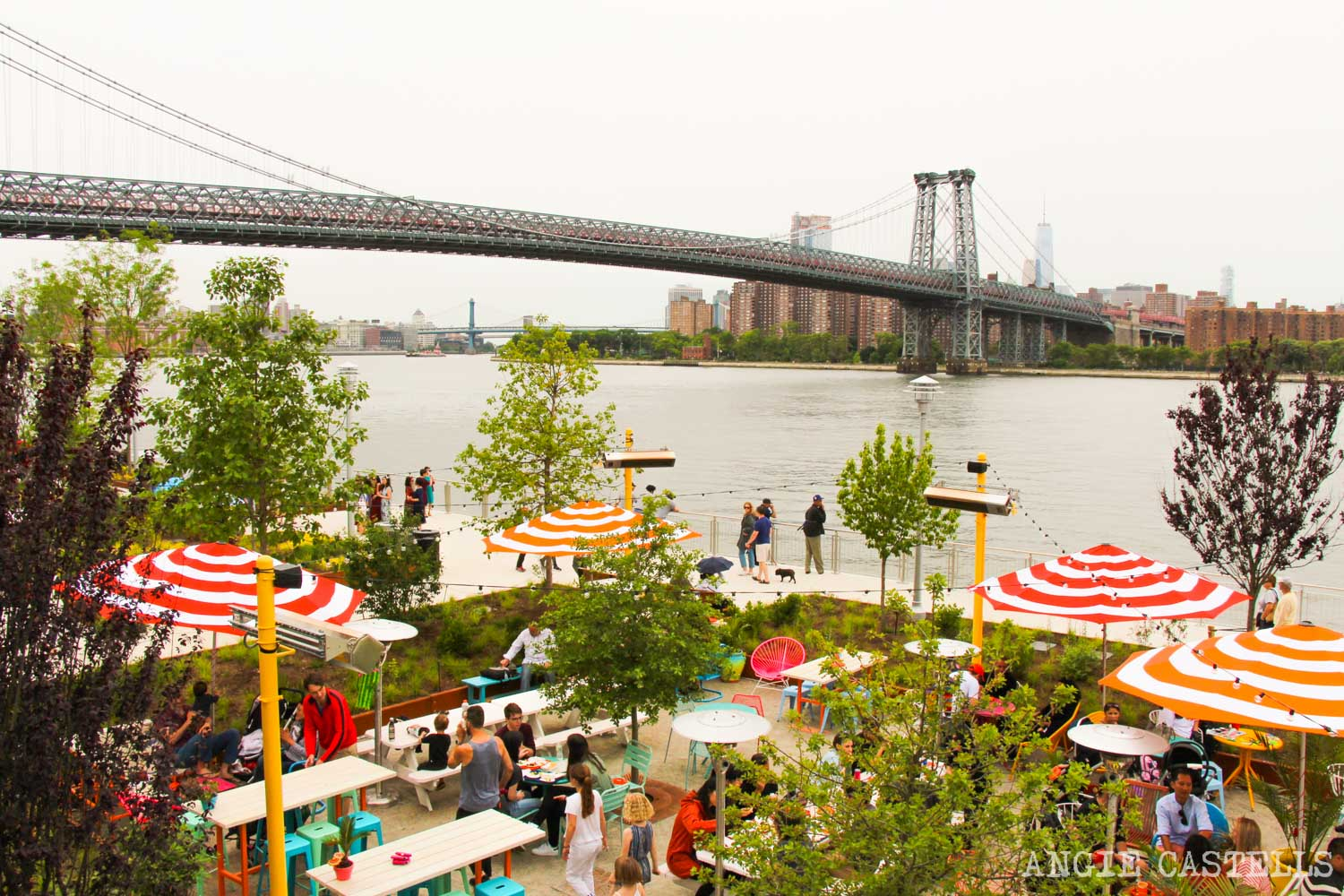 Domino Park, el parque de Williamsburg con vistas a Manhattan
