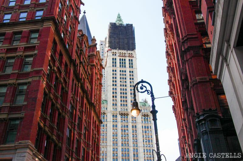 Escenarios de cine en Nueva York: Woolworth Building en Animales fantásticos