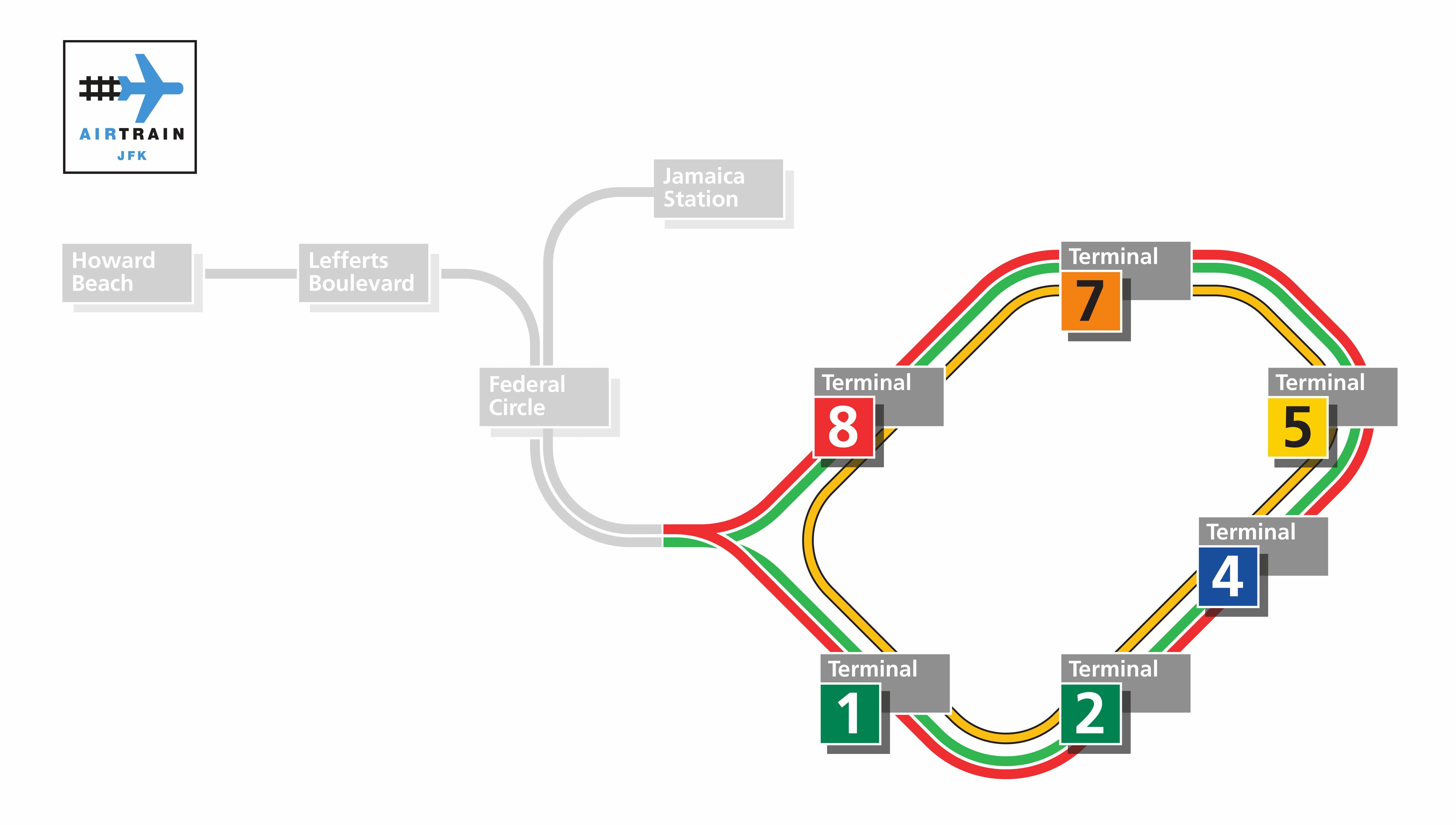 Líneas y rutas del AirTrain del aeropuerto JFK
