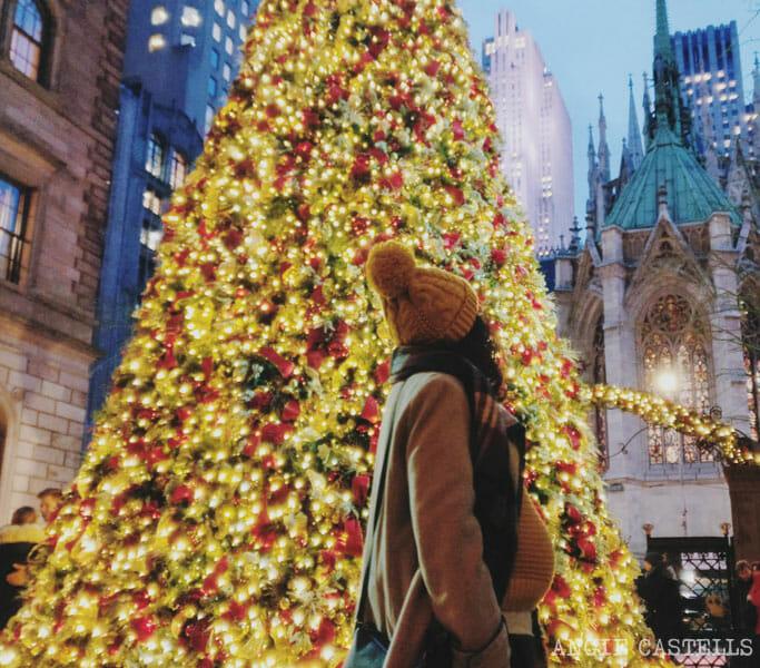 Consejos para viajar embarazada a Nueva York - Arbol Navidad Lotte NY Palace-1